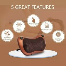 Us Plug 8 Head-Mounted Cervical Whole Body Heating Massage Pillow