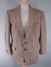 CLASSIC M&S British Made PURA LANA HANDWOVEN Brown Harris Tweed Giacca 40 pollici