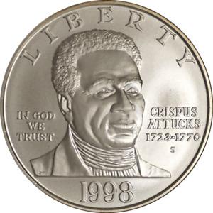 1998-S Black Patriots Commemorative $1 NGC MS70