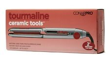 "Conair 2"" Professional Tourmaline Ceramic Flat Iron Smoothing Straightener, New"