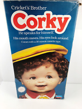 Corky Cricket's Brother Talking Doll 1987 in Box w/ Cassette Tape & Manuals