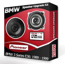 """BMW 3 Series E36 Rear Side Shelf speakers Pioneer 4"""" 10cm car speaker kit 200W"""