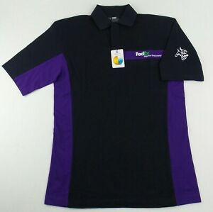 NEW FedEx Stan Herman Home Delivery Work Employee Men's Polo Shirt