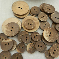 5 x coconut shell buttons  in choice of 6 diameters natural & beautiful