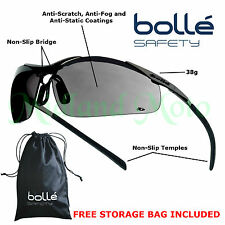 Bolle Contour Metal Frame Smoked Lens Safety Glasses / Sunglasses CONTMPSF EN166