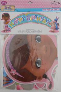 """Party Banner DISNEY DOC MCSTUFFINS """"Happy Birthday"""" Decoration Supplies Hallmark"""