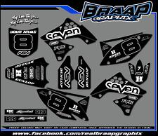 KAWASAKI KXF 250 2009-2010-2011-2012 GRAPHICS DECAL KIT MOTOCROSS BLACK