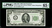 $100 1934 Federal Reserve Note San Francisco PMG 65 EPQ Gem Uncirculated