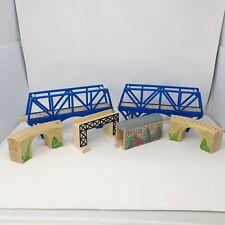 Thomas and Friends Wooden Railway Train Set Suspension Bridge Lot of  6