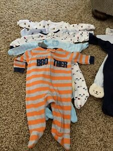 Newborn To 9 Month Boys Fitted Pajama (Lot)—18 pair
