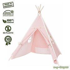 AKZEPTABEL: my-teepee MT01ro Spielzelt für Kinder rosa mit weißen Punkten