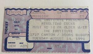 Revolting Cocks - US Concert Ticket Stub 1990 Dallas, Texas
