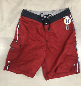 NEW HURLEY BOARDSHORTS SURF SUP SURFING MX HAWAII TRUNKS SIZE 34 FREE SECTOR 9