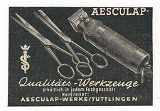 24/182 WERBUNG AUS EINER ZEITSCHRIFT 1949 FRISEUR WERKZEUG TUTTINGEN SCHEREN