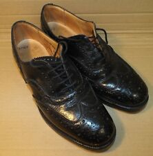 SCOTTISH BLACK LEATHER DRESS BROGUES - Size: 8 Small  , British army issue