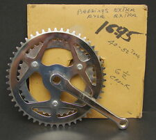 Vintage NOS 40T 52T Bicycle Sprocket Chainwheel 165mm Crank Arm Made in Japan OG