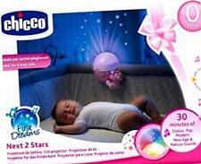 Chicco Rosa Next 2 stelle Mobile da viaggio Lettino PROIETTORE Fit next2me Culla