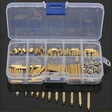 270Pcs M2mm Male Female Brass PCB Spacer Standoff Screw Nut Assortment Threaded