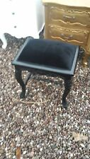 NEW BLACK FRENCH STYLE DRESSING TABLE STOOL DELIVERY AVAILABLE