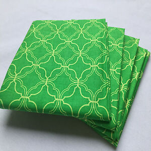 "Print Fabric,Precuts Fat Quarter18""x 21""(Greenflower patterns)100%COTTON FABRIC"