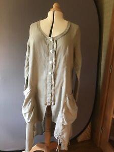 Eden Rock Linen Natural Colour Coat Dress - Size XL