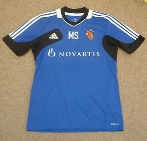 Large Fit  Mens FC Basel Player Issue Football Training Shirt Adidas