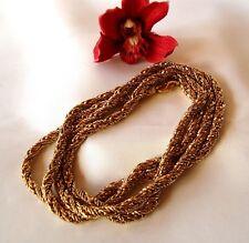 Massive extra lange Pierre Lang Kette Halskette Collierkette vergoldet  / bt 260