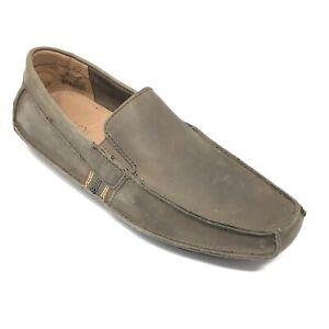 Men's NEW Fossil Franco Driving Moccasins Shoes Size 8 M US/41 EU Gray U15