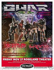 "GWAR / JOB FOR A COWBOY 2009 ""LUST IN SPACE TOUR"" PORTLAND CONCERT POSTER"