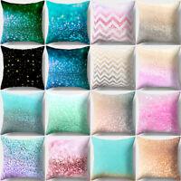 Multicolor Peach Skin Pillow Cover Sofa Waist Throw Cushion Case Home Decor SH