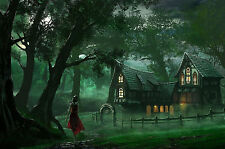 Framed Print - Enchanted Fairy Tale Cabin in the Woods (Picture Fantasy Disney)