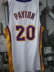 Vtg Nike NBA Los Angeles Lakers Authentic Gary Payton Sewn Gold ...