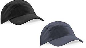 BLACK or GREY Performance Waterproof Nylon Tactel® Baseball Hat Cap