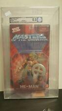 2002 Mattel MOTU He-Man  4 Point Chest Emblem Graded  AFA 8.5 Series 1