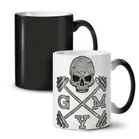 Skull Gym Fitness Sport NEW Colour Changing Tea Coffee Mug 11 oz | Wellcoda