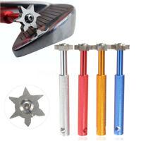 Practical 6 Blade Golf Club Sharpener U/V Groove Wedge Cleaner Regrooving Tool