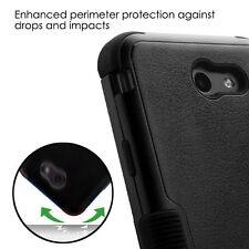 Samsung Galaxy J7 2017 Models - BLACK Hybrid Shockproof Armor Phone Case Cover