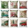 Christmas Home Decoration Cushion Pillow Case Santa Claus Tree Pattern Holiday