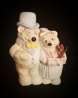 Vintage 1991 Cast Art Dreamsicles Bride & Groom Bears Wedding Figurine