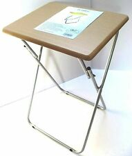 Folding Foldable Small TV Table Tea Coffee Bed Side Metal Legs H 69 W 50 /d 40cm