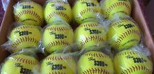 12 Pelotas de Softball semi duras. son perfectas para práctica y para partidos,