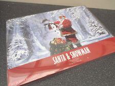 Christmas Place mats Santa & Snowman Table Placemats Set Of 4 LP92628