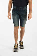 DIESEL men Trousers Sz 32 THAVAR Jogg Jeans Blue Denim Stretch Shorts Pants B...
