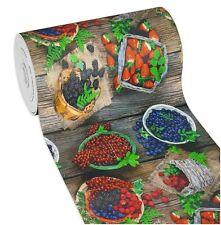 Tappeto cucina gomma frutti legno pvc antimacchia retro antiscivolo mod.MENDY14
