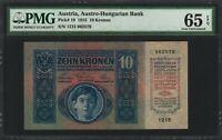 Austria 10 Kronen 1915 - PMG 65 EPQ  Gem Unc