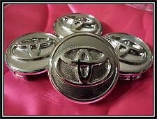 SET OF 4pcs. NEW TOYOTA COROLLA / YARIS / PRIUS WHEEL HUB CENTER CAP CAPS.