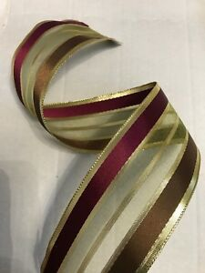Wire - Edged Ribbon  width: 6.3cm / 2.5 in