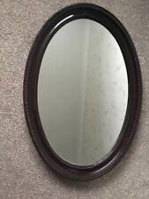 Vintage Oak Framed Wall Mirror