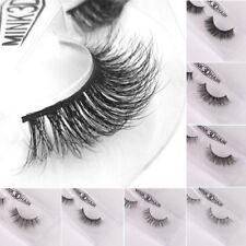 3D Lashes Mink Natural Thick False Fake Eyelashes Eye Lashes Makeup Extension
