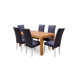 6x Chair Set Chairs Pads Set Kitchen Living Room Dining Room Set Designer